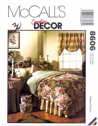 McCall's 8606 Home Decor Sewing Pattern Bedroom Essentials Shams Comforter Curtains