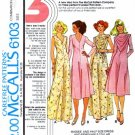 McCall's 6103 Sewing Pattern Misses Evening Dress & Removable Collar Bust 43 - 47