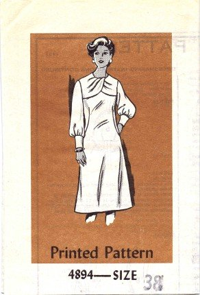 Anne Adams 4894 Mail Order Sewing Pattern Misses Front Draped Dress Size 38 - Bust 42
