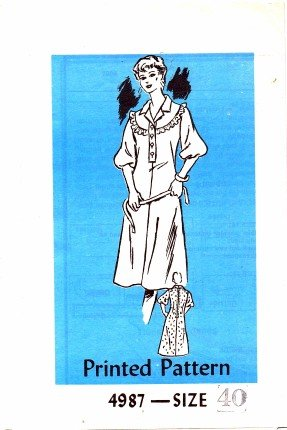 Mail Order 4987 Sewing Pattern Womens Full Figure Front Yoke Dress Size 40 - Bust 44