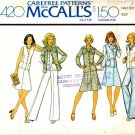 McCall's 4420 Sewing Pattern Misses Shirt-Jacket Vest Skirt Pants Size 18 1/2 - Bust 41