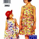 See & Sew 3992 Sewing Pattern Girls Pullover Dress Size 7 - 14