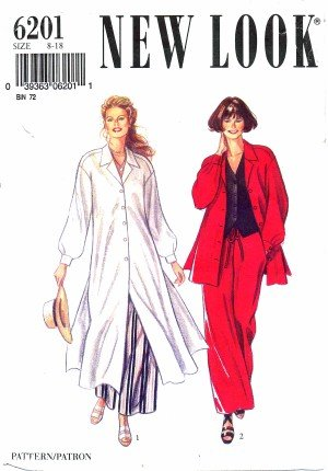 New Look 6201 Sewing Pattern Misses Shirt Vest Pants Size 8 - 18 Bust 31 1/2 - 40