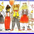 Butterick 4338 Sewing Pattern Toddler Girls Busybodies Vest Blouse Skirt Pants Scarf Size 2 - 4