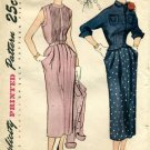 Vintage 1940's Simplicity 3088 Sewing Pattern Misses One-Piece Dress & Jacket Size 12 - Bust 30