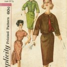 Vintage 1960's Simplicity 3535 Sewing Pattern Junior Misses Dress & Jacket Size 11 - Bust 31 1/2