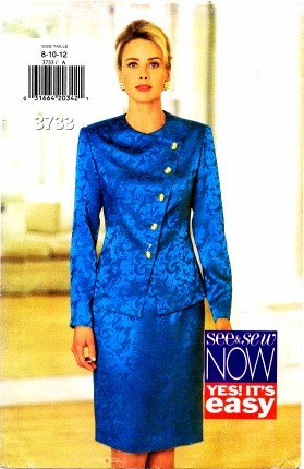1990's See & Sew 3733 Sewing Pattern Misses Top and Skirt Size 8 - 12 - Bust 31 1/2 - 34