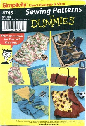 Simplicity 4745 Sewing Pattern Fleece Pillow in a Quilt Blanket & Carry Bags