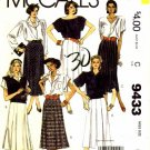 McCall's 9433 Sewing Pattern Misses Skirts Size 12 - Waist 26 1/2