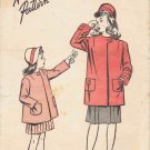 Advance 4149 Vintage Sewing Pattern Girls Coat Size 8
