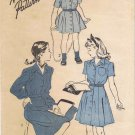 Advance 4398 Vintage Sewing Pattern Girls Shirtwaist Dress Size 4 Breast 23