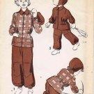 Advance 5319 Vintage Sewing Pattern Girls Boys Ski Snow Suit Jacket Trousers Helmet Size 8