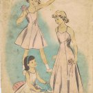 Advance 5449 Vintage Sewing Pattern Girls Slip Size 12 Breast 30