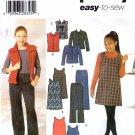 Simplicity 4839 Sewing Pattern Girls Jacket Vest Boot Leg Pants Jumper Size 7 - 16