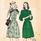40's Butterick 4180 Vintage Sewing Pattern Teens Long Torso Dress Size 12 Bust 30