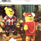 1990's Simplicity 8265 Crafts Sewing Pattern Decorative Bear & Clothes