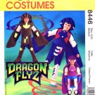 1990's McCall's 8446 Sewing Pattern Dragon Flyz Costumes Size 5 - 6