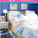 1980's Butterick 4347 Sewing Pattern White Bedroom Pillow Covers Duvet Cover Dust Ruffle