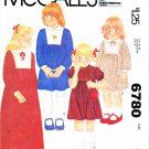 1970's McCall's 6780 Vintage Sewing Pattern Girls Front Yoke Dress Size 7 Breast 26