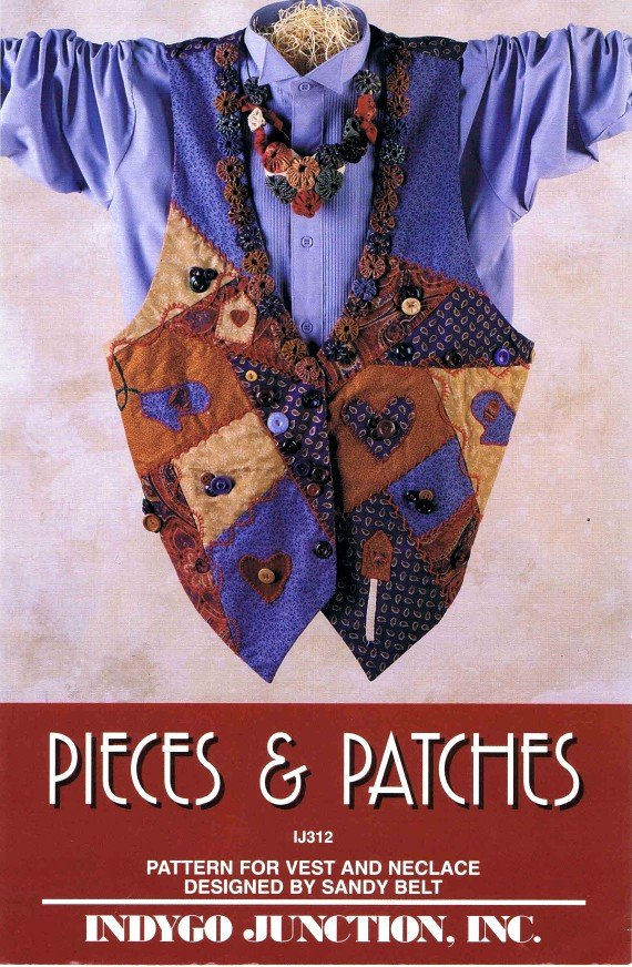 1990's Indygo Junction IJ312 Womens Vest Necklace Sewing Pattern Size S - M - L