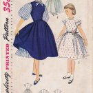 1950's Simplicity 3810 Girls Dress Petticoat Vintage Sewing Pattern Size 10
