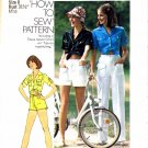 1970's Simplicity 7333 Womens Shirt Pants Shorts Vintage Sewing Pattern Size 8 Bust 31 1/2