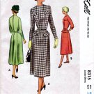 1950's McCall 8315 Junior Dress Vintage Sewing Pattern Size 13 Bust 31