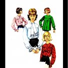1960s Simplicity 5573 Womens Blouse Smock Tie Collar Vintage Sewing Pattern Size 12 Bust 32