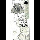 1940s Marian Martin 9837 Girls Blouse Skirt Jacket Cap Vintage Sewing Pattern Size 6
