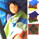 McCall's 4185 Cozy Lap Quilt Pillow Cases Sewing Pattern