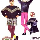 McCall's 4611 Girls Top Skirt Leggings Camp Beverly Hills Sewing Pattern Size 12