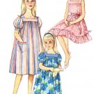 1960s Simplicity 3938 Girls Muu Muu Nightgown Vintage Sewing Pattern Size 10 Breast 28