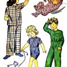 1940s Simplicity 2040 Girls Boys Pajamas Tops Bottoms Size 4