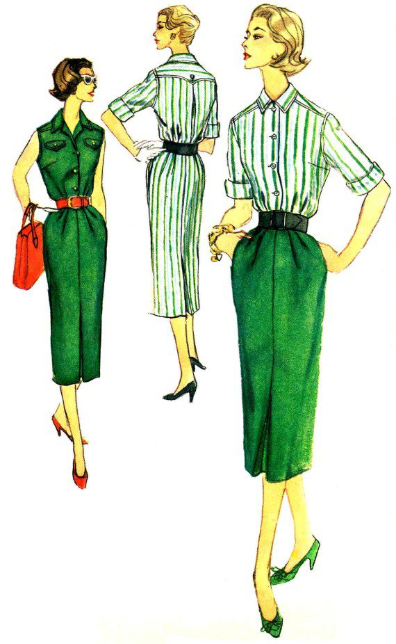 Simplicity 2349 Sewing Pattern Misses Blouse & Skirt Size 12 - Bust 32