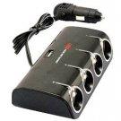 niceeshop(TM) 4-Socket Cigarette Lighter Power Adapter DC Outlet Splitter Dual-Port USB Car Charger