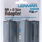 D Size Battery Shell Adapter for AA Batteries By Lenmar