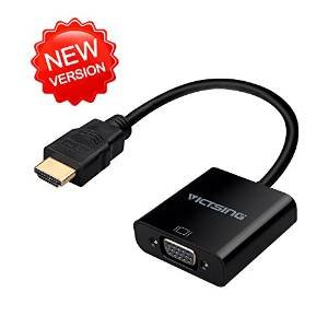 VicTsing® Gold-Plated 1080P HDMI to VGA Cable Adapter(Male to Female) for PC Laptop HDTV Monito
