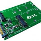 ZTC 2-in-1 Thunder Board M.2 (NGFF) or mSATA SSD to SATA III Board Adapter. Multi Size Fit with Hig