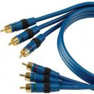 Acoustic Research AP091 3-Piece, 6-Foot Red/Blue/Green Component Video Molded Connectors (Disco