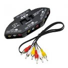 niceEshop(TM) 3 in 1 Composite RCA AV Audio Video Selector Switch Box Splitter,Black