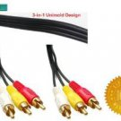 PTC 50 ft Premium Gold Series Composite AV Audio Video Cable - Gold plated