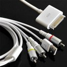 FAVOLCANO® AV Video to TV RCA Audio Cable USB Charger for iPad 2/3, iPhone 4, 4S, 3GS, iPod
