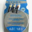 Dynex DX-AVO61 Cable Composite Audio / Video rca av 6ft