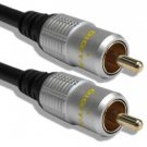 Cable Mountain 1.5m Gold Plated Single RG59 Coaxial Phono Cable for SPDIF/Digital Audio and Com