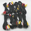 LOT OF 10 NEW 6 Ft RCA AUDIO/VIDEO COMPOSITE CABLES DVD/VCR/SAT YELLOW RED & WHITE CONNECTORS