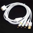 GooDGo AV TV RCA Video USB Cable For Apple Iphone 4 4s 3GS 3G Ipad2.3 IPod Touch Nano