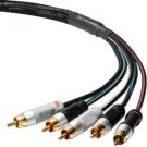 Mediabridge ULTRA Series Component Video Cable with Audio (6 Feet) - Gold Plated RCA to RCA - S