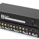 YueYueZou® 1 to 8 Composite Video Audio 3RCA AV Powered Amplifier Splitter Box 1 In 8 Out 1