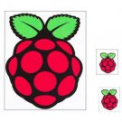 Large Raspberry Pi Stickers - Pack of 6
