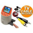 Wolverine F2D Mighty 20MP 7-in-1 Film to Digital Converter and 3.5mm (M) to RCA Composite (M) T